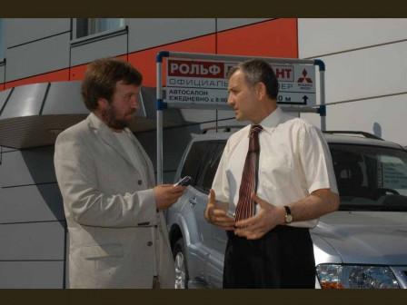 С владельцем автокорпорации «Рольф» С.Петровым, 2002