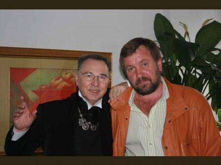 С кутюрье Славой Зайцевым, 2007