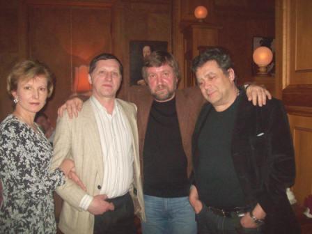 Март, 2010,с однокашниками И.Дьяковым и И. Свинаренко в ЦДЛ