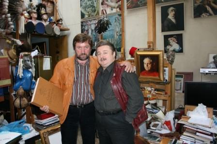 С нар.художником России С.Присекиным, 2009