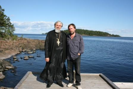 С о.Борисом, Валаам, 2008