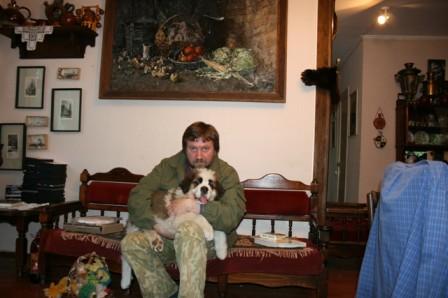С сенбернаром Барри, 2008