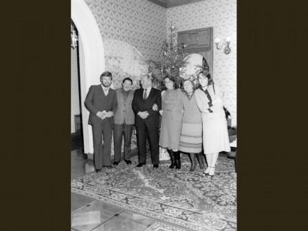 На приеме у Р.Кастро, 1983