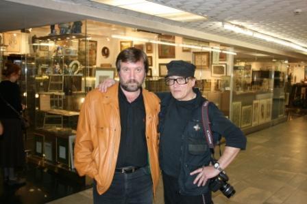 Октябрь, 2008, с М.Шемякиным в Доме художника