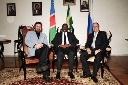 В посольстве Намибии, март 2009