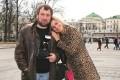 С дочкой Лизой на Манежной площади, 2005