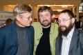 С артистом Б.Токаревым и бизнесменом Г.Стерлиговым, Манеж, ноябрь 2008